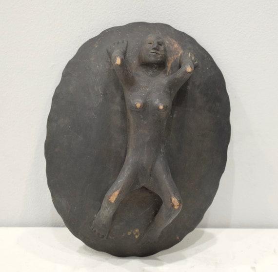 Philippines Bowl Ifugao Wood Bowl Female Figure legged Bowl