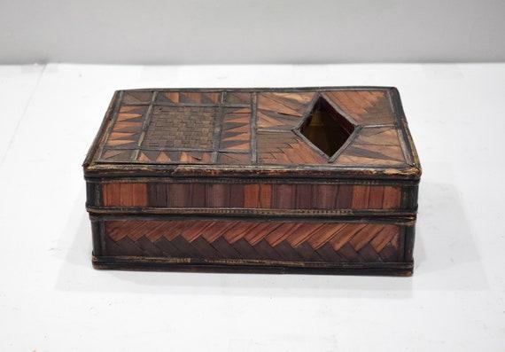 Basket Indonesian Rectangular Palm Leaf Box