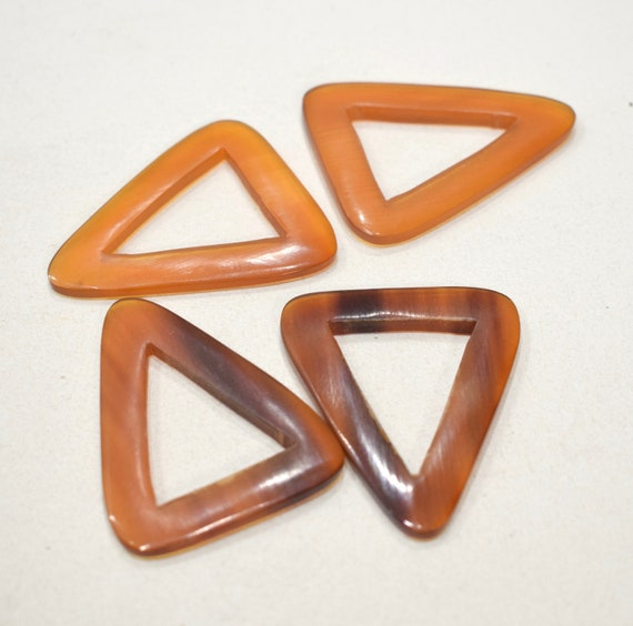 Beads Philippine Brown Horn Triangle Beads 47mm