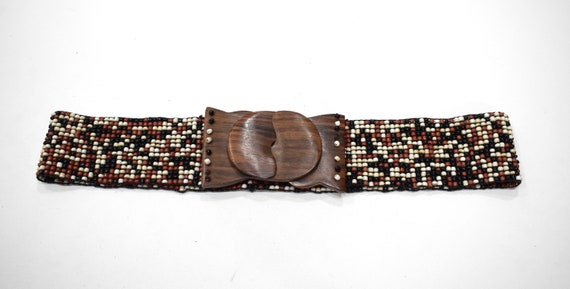 Belts Indonesian Beaded Stretch Assorted Colored Pebble Belts