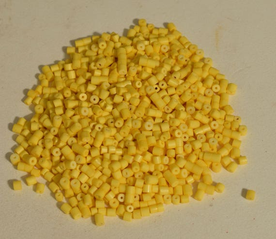 Beads Yellow Glass Heishi  Beads 4mm