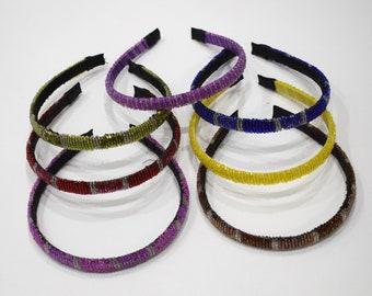 "Headbands Indonesian Assorted Color Round Beaded Headbands 6"""