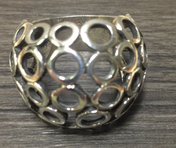 Chinese Sterling Silver Hill Tribe Dome Ring
