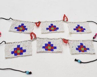 African Zulu Beaded Pair Anklets South Africa