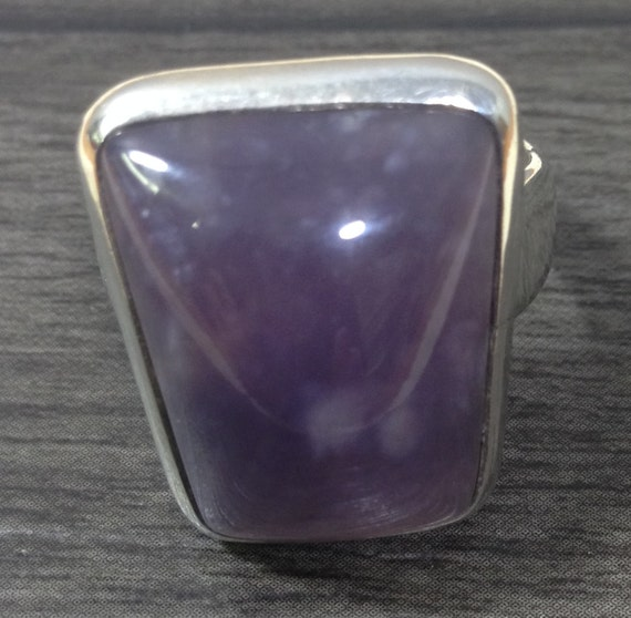 Ring Sterling Silver Light Amethyst Purple Ring