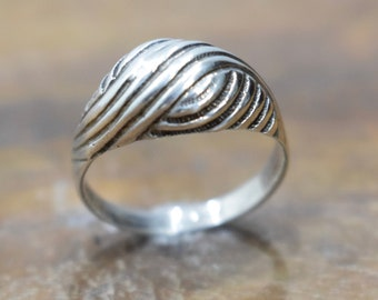 Ring Sterling Silver Small Dome Band Ring