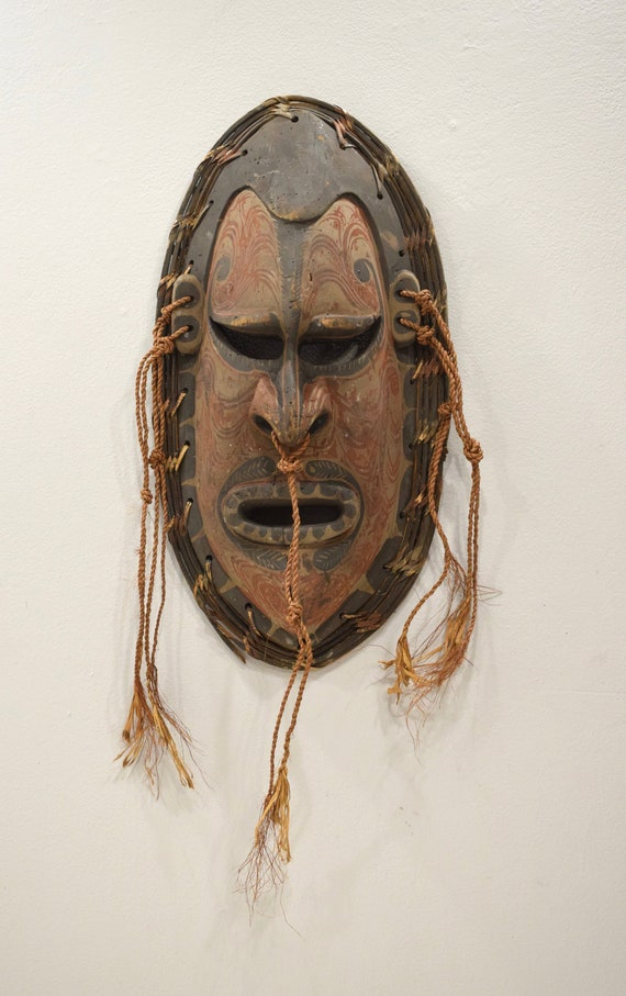 Papua New Guinea Mask Tambanum Big Mouth Spirit Mask East Sepik River