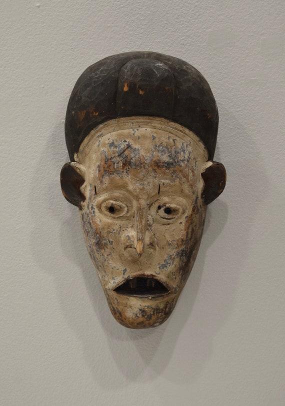 African Punu Kaolin Mask Gabon