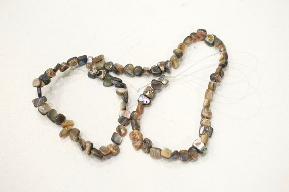 Beads Philippine Abalone Shell Square Beads 8-14mm
