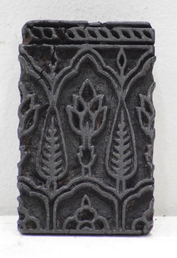 India Wood Block Ink Stamp Hand Carved  Design Wood Block Ink Stamp