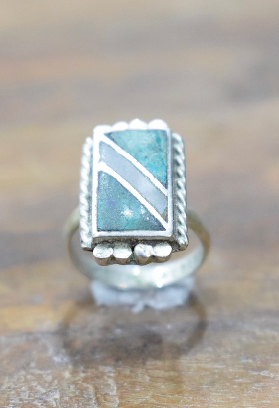 Ring Sterling Silver Moss Agate Quartz Stone Ring