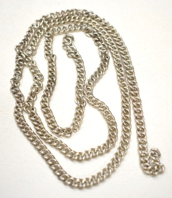 """Beads Old Silver Indonesian Cable Chain 36"""""""