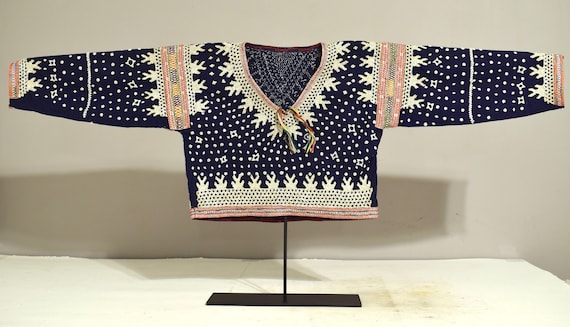 Blouse Albong Bilaan People Mother of Pearl Sequin Ceremonial Shell Blouse