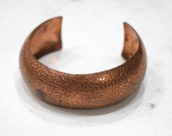 Bracelet Copper Wide Textured Cuff Healing Bracelet