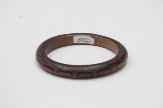 Bracelet Indonesian Wood Round Bangle