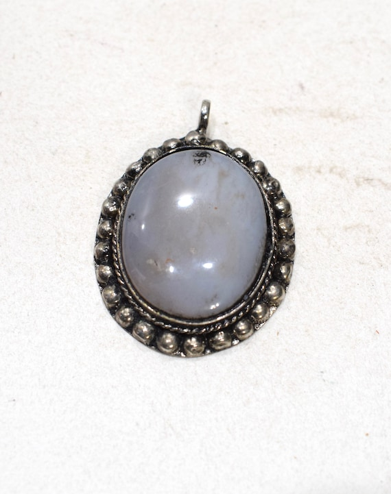 Beads India Agate Silver Pendant 50mm