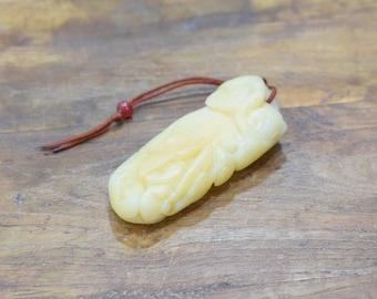 Carving Chinese Nephrite Light Jade Lotus # 6