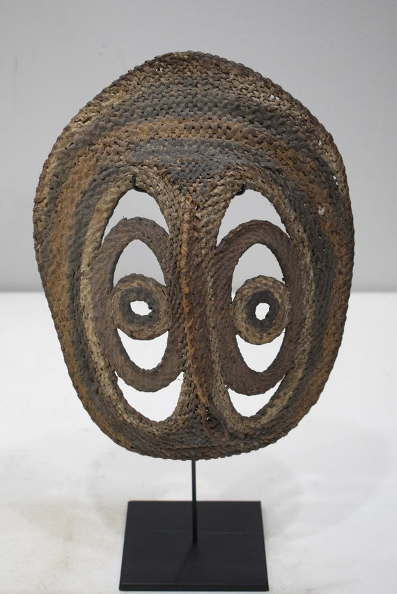 Papua New Guinea Mask Abelam Yam Harvest Woven Mask 10.5""