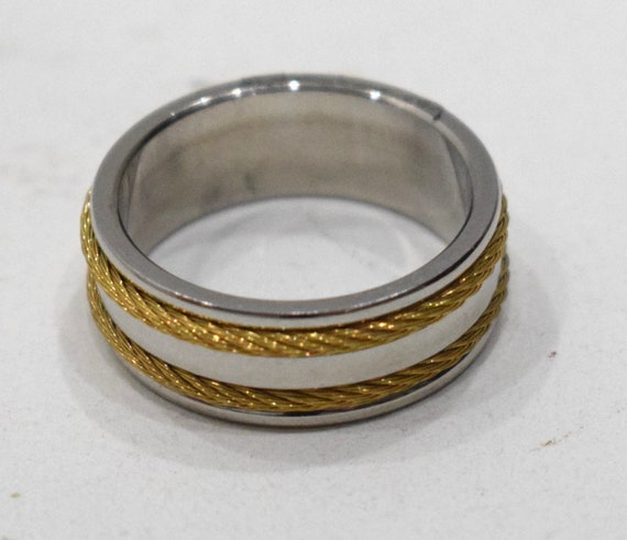 Ring Stainless Steel Brass Rope Band Ring