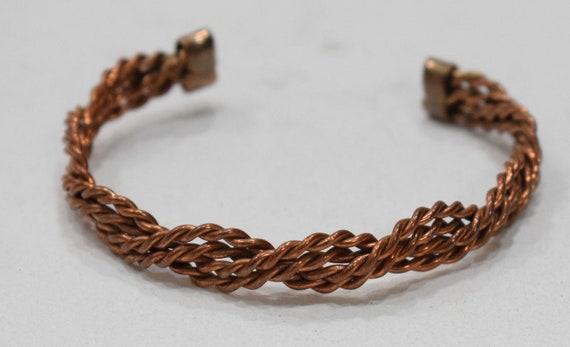 Bracelet Copper Woven Rope Cuff Healing Bracelet