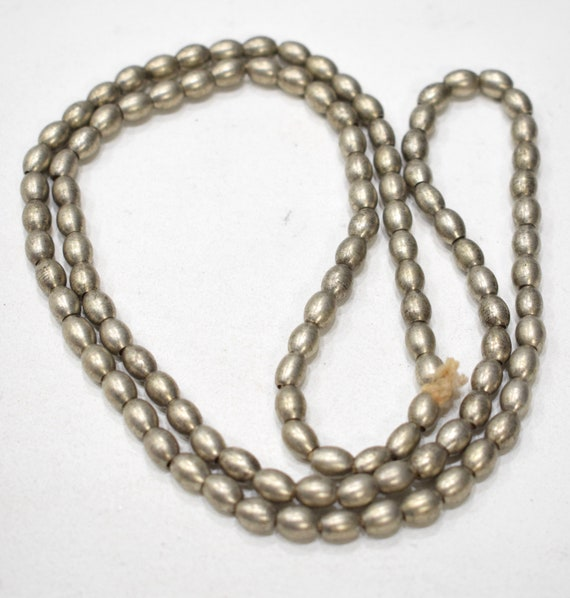Beads India Silver Oval Beads 8mm