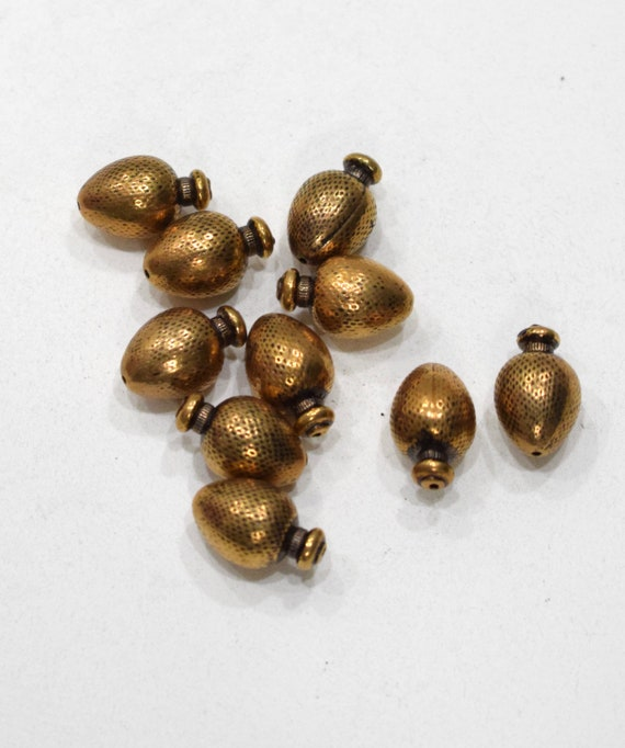 Beads Gold Vase Beads 18mm