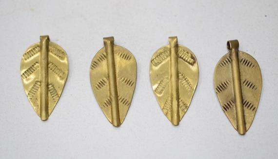 Beads African Turkana Small Brass Spear Pendants 38mm