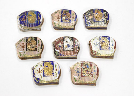 Chinese Cloisonne Enamel Tape Measure