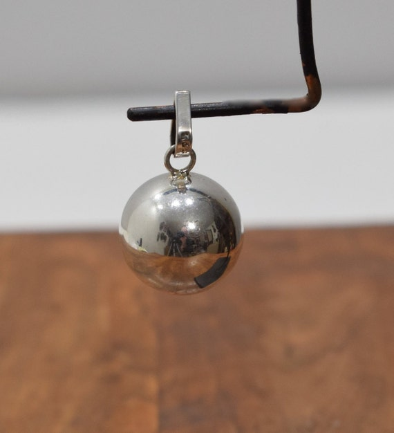 Pendant Sterling Silver Shiny Chime Harmony Ball Bali Indonesia
