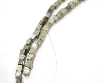 Beads Pyrite Natural Cube Beads 8mm