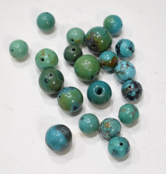 Beads Chinese Turquoise Round Beads 8-12mm