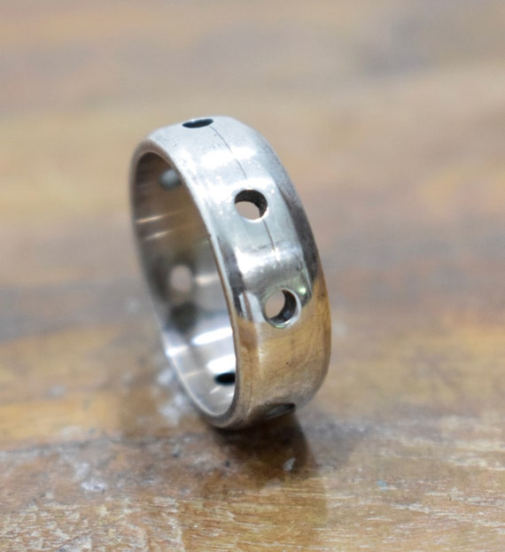 Ring Sterling Silver Cut Out Band Ring