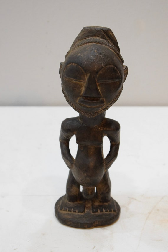 "African Statue Luba Male Ancestor Zaire Statue 11"""