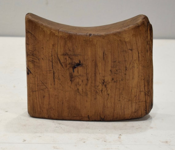 African Headrest Ethiopian Gurage Mens Wood Headrest