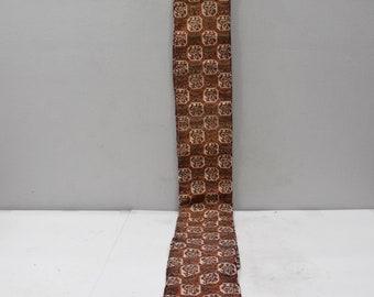 Japanese Orange Black Pattern Obi or Sash Womens Kimono Belt