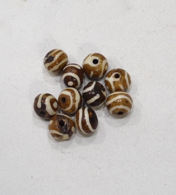 Beads Batik Bone Round Beads 15mm