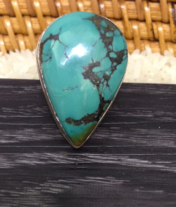 Ring Sterling Silver Chinese Turquoise Ring