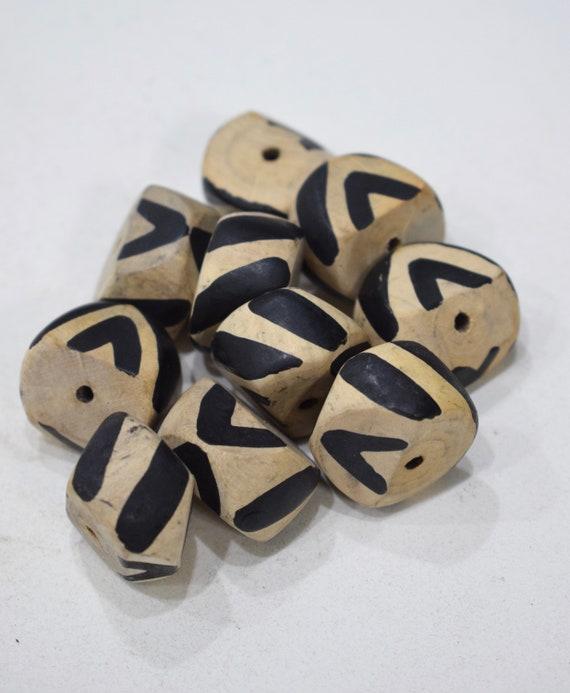 Beads Philippines White Black Tribal Beads 25mm