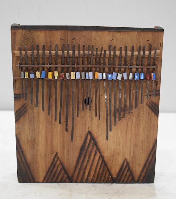 "African Thumb Piano Gogo Tanzania Music Thumb Piano 10"""