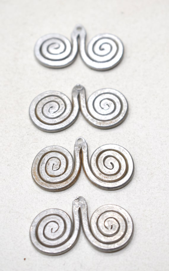 Beads Old Masai/Turkana Aluminum Pendants 31mm