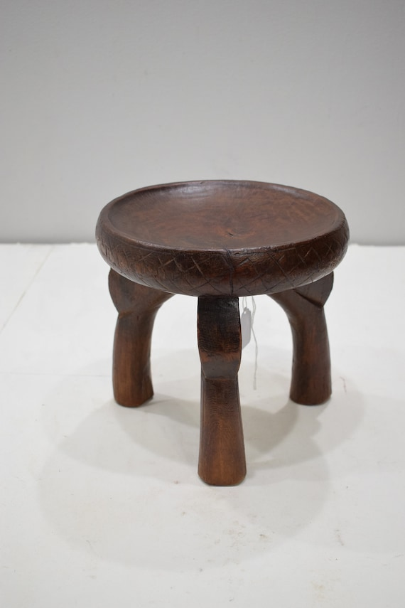 African Stool Gogo Tribe Tanzania Carved Wood Status Prestige Chair Gogo Stool