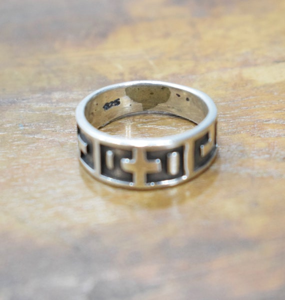 Ring Sterling Silver Grooved Band Ring