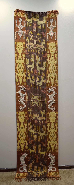 Java Blanket Sumba Ikat Shells Dragon Handmade Design Ceremonial Cloth
