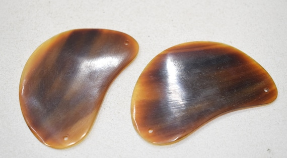 Beads Philippine Brown Horn Pendants 60-62mm