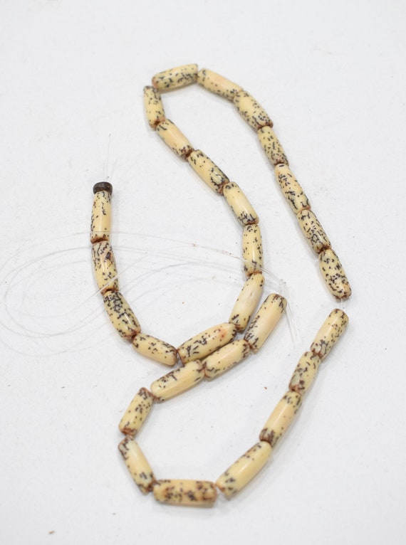 Beads Philippines Spotted Betel Nut Tubes 15-18mm