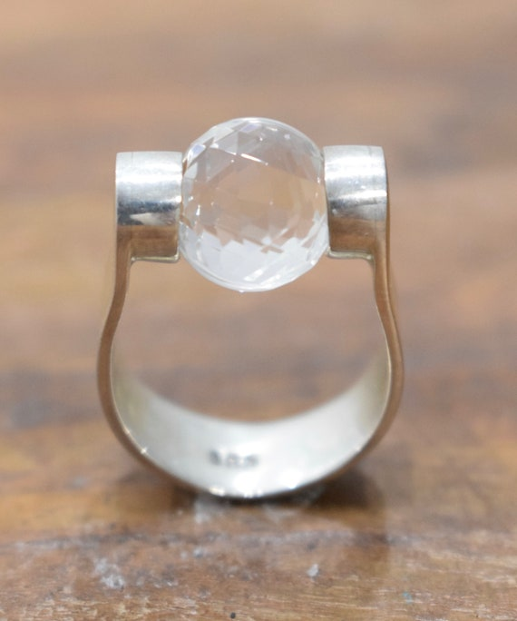 Ring Sterling Silver Interchangeable Glass Bead Ring