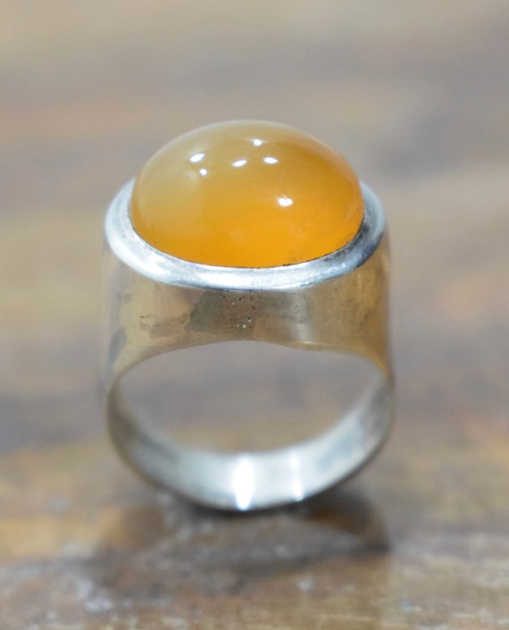 Ring Sterling Silver Carnelian Stone Silver Ring