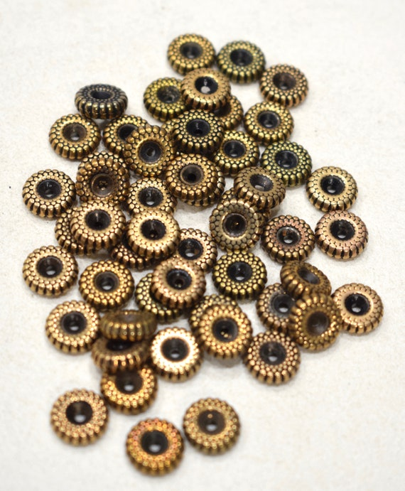 Beads Gold Plated Grooved Round Beads 10mm