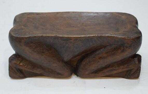 "Stool Ifugao Bulu Figure Male Ceremonial Wood Stool 12"""