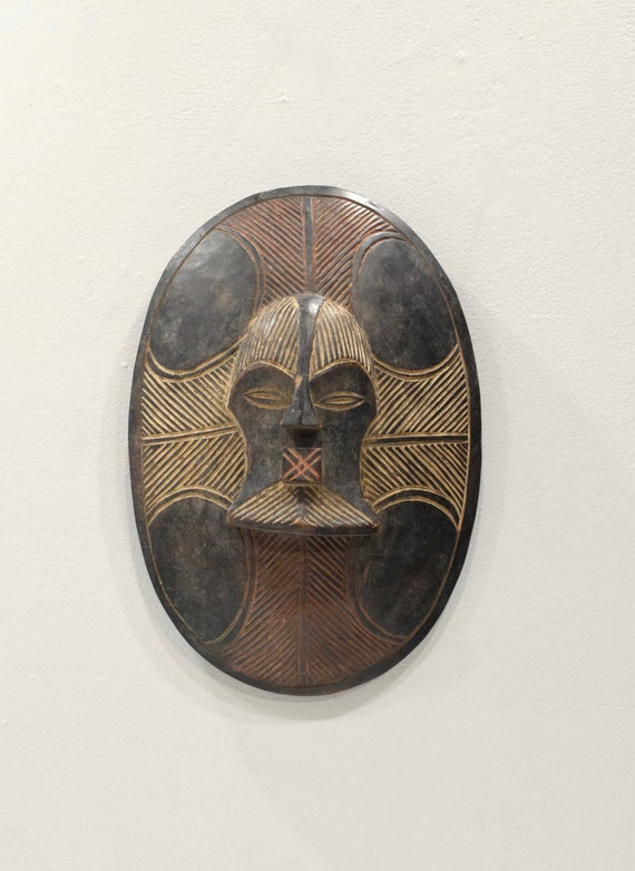 Mask African Songye Mask Shield 16""